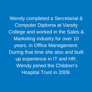 Wendy Dreyer _ Executive Assistant to CEO Staff Children's Hospital Trust