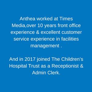 Anthea Gurling Children's Hospital Trust staff