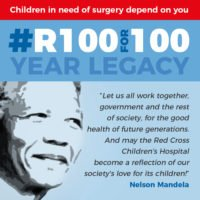NELSON MANDELA'S LEGACY LIVES FOREVER AT THE RED CROSS CHILDREN'S HOSPITAL