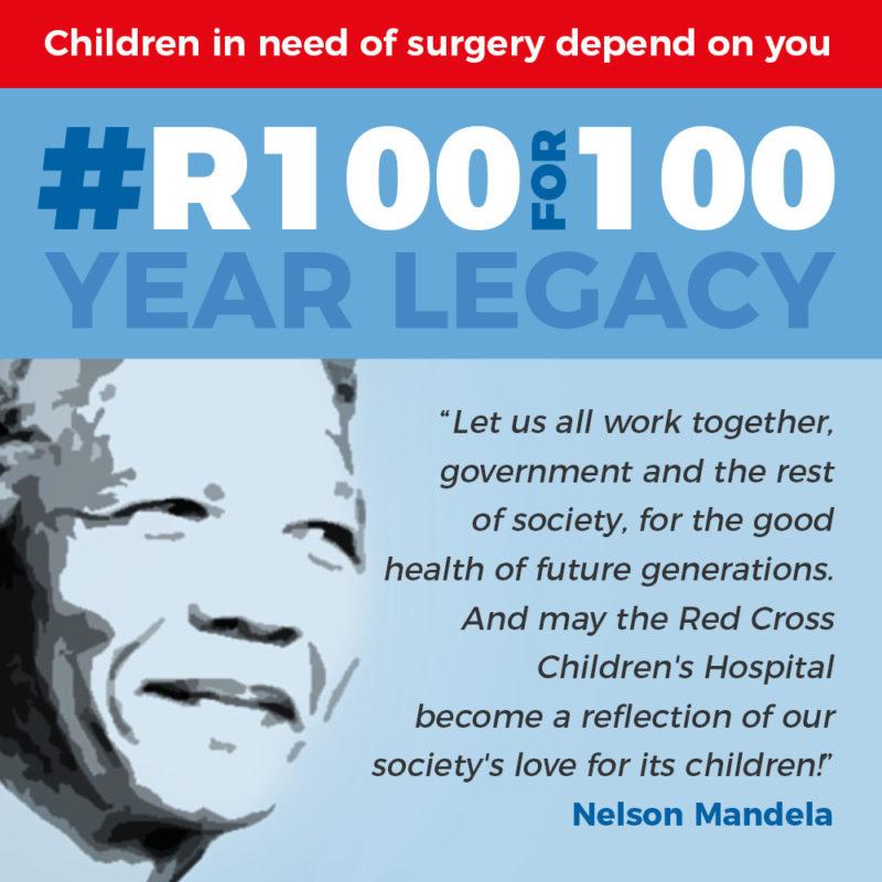 NELSON MANDELA'S LEGACY LIVES FOREVER AT THE RED CROSS CHILDREN'S HOSPITAL