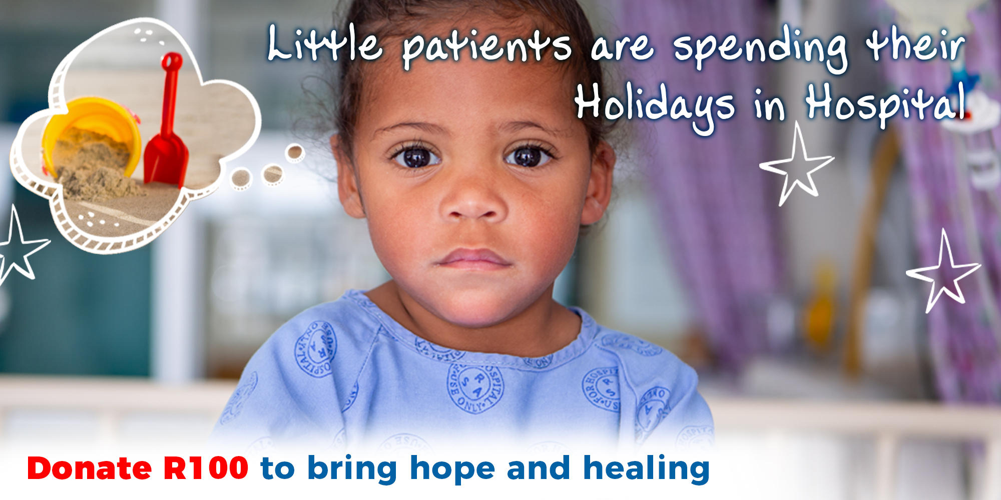 Donate R100 to bring hope and healing Children's Hospital Trust